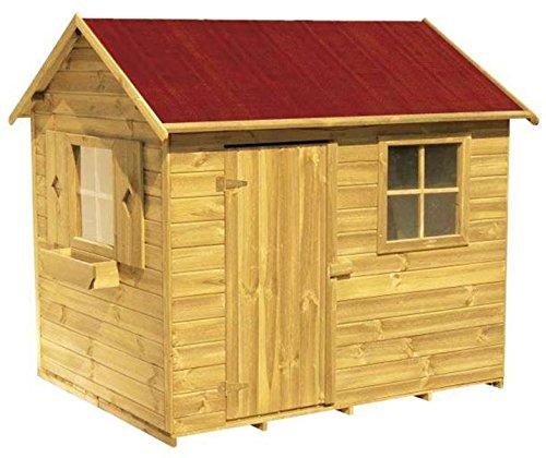 Spielhaus Wilma- Kinderspielhaus Holz für den Garten, FSC zertifieziert/ TÜV geprüft inkl. Dachpappe