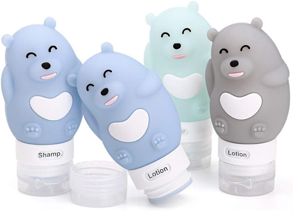 LEAMALLS Silicone Bottiglie da Viaggio Portatile e comprimibile Contenitori Riutilizzabili per Shampoo Balsamo Gel Doccia Lozione Crema Solare