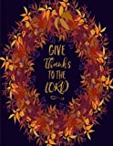 "This Thanksgiving notebook features the quote ""Give Thanks to the Lord"" on the cover. There is ample room inside for writing notes and ideas. It can be used as a notebook, journal or composition book. This paperback notebook is 8.5"" x 11"" (le..."