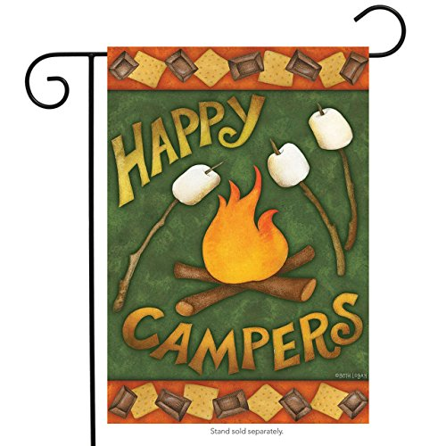 Happy Campers Fall Garden Flag made our CampingForFoodies hand-selected list of 100+ Camping Stocking Stuffers For RV And Tent Campers!