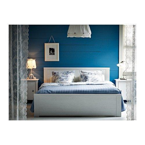 Ikea Brusali Cadre De Lit Avec Des Boites De Stockage 4 Blanc