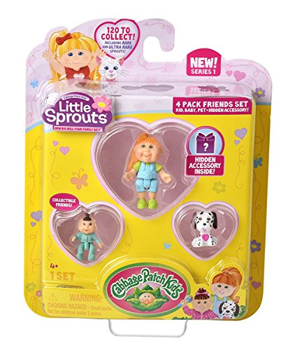 Cabbage Patch Kids Little Sprouts Friends 4 Pack - Assorted (Little Sprout Collection)