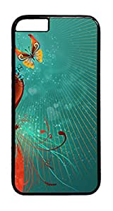 Heart Swirls And Butterfly PC Case Cover for iphone 6 Plus 5.5inch - Black