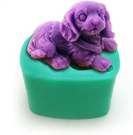 New 3D Dog Silicone Mold Fondant Cake Chocolate Polymer Clay Silicon Mould
