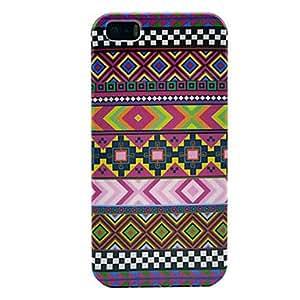 Contraportada protectora de plástico patrón de estilo étnico de 5/5s iphone