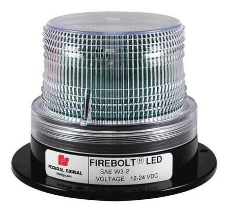 Beacon Light, LED, 12/24VDC, Clear by FEDERALSIGNAL