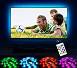"Emotionlite Bias Lighting LED TV Backlight Strip 13.1ft for 60""-70"" TV, 16 Colors Changed RGB Light Strip, USB Powered Backlight Light for Flat Screen HDTV LCD with 24keys Remote Controller"