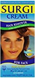 Surgi-cream Hair Remover Extra Gentle Formula For Face, 1-Ounce Tubes (Pack of 3) by Surgi-cream