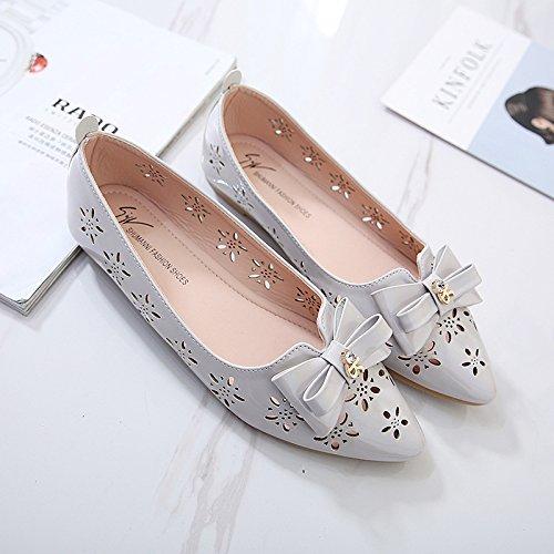 La de mariposa flores soporte hueca de soled zapatos flor con suave decorativo nudo mujer zapatos Forty zapatos zapatos nXSr8Xxw