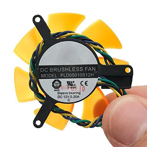 PLD05010S12H PLD05010S12L 12V 0.20A 47mm 4wire 4Pin Cooling fan For ZOTAC 8500GT (8500gt Video Card)