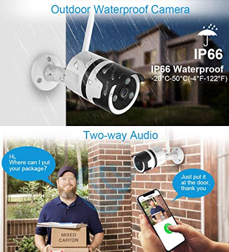 Outdoor Security Camera, 1080P Outdoor Surveillance Cameras with FHD Night Vision, Motion Detection, Two-Way Audio, IP66 Waterproof, Wired or WiFi Outdoor Camera, Cloud Storage (Updated Version) by NETVUE (Image #2)
