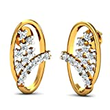 JewelsForum Earrings in 14Kt Yellow Gold with Diamond Studs 0.26 Carat TCW