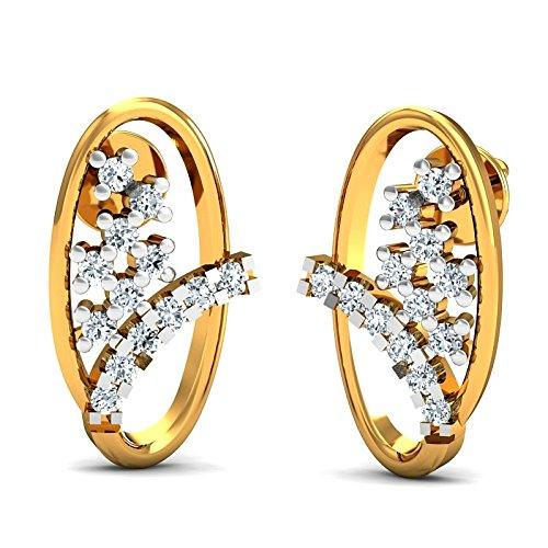 JewelsForum Earrings in 14Kt Yellow Gold with Diamond Studs 0.26 Carat TCW by JewelsForum