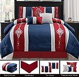 JABA USA 21115-Cal-King-Burgundy California King Burgundy Comforter Set For Sale