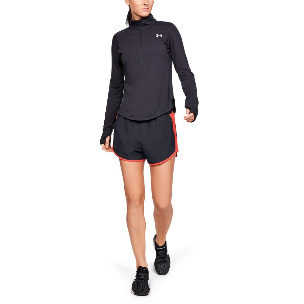 Under Armour Women's Fly By Running Shorts, Black (052)/Reflective, XX-Large by Under Armour