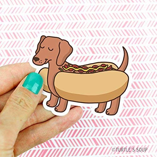 Amazon Cute Dachshund Hot Dog Vinyl Sticker Doxie Gift