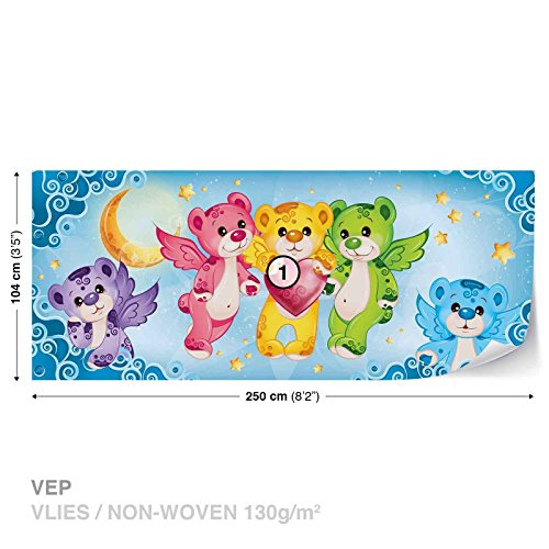 Care Bear Heart Wall Mural Photo Wallpaper Room Décor (507WS)