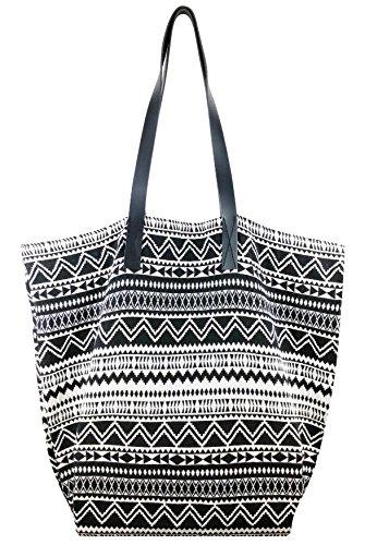 Bag Wizard Fashion Women's Leather Handbags ladies Shoulder Bag Tote Bags (Jacquard Black) (Black Jacquard Shoulder Bag)