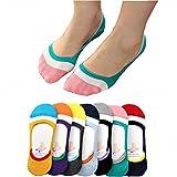 7 Pack Women Girls Anti-slip Invisible Boat Socks, Casual Summer Socks