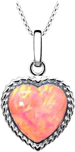 Pear Shape Pink Opal /& Cubic Zirconia .925 Sterling Silver Pendant