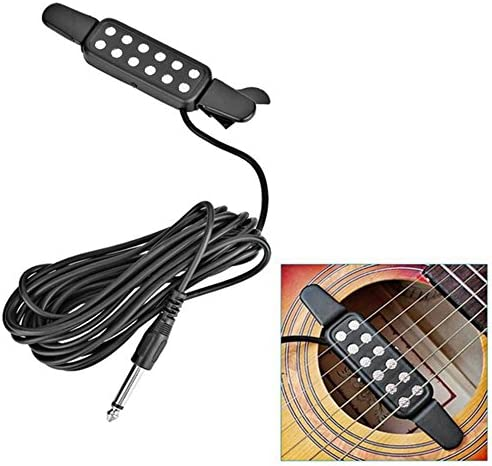 Mouchao 12 Hole Clip On Sound Pickup Microphone Amplifier Speaker Guitar Transducer