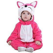 Evelin LEE Boys Girls Animal Pajamas Winter Panda Romper Outfits Halloween