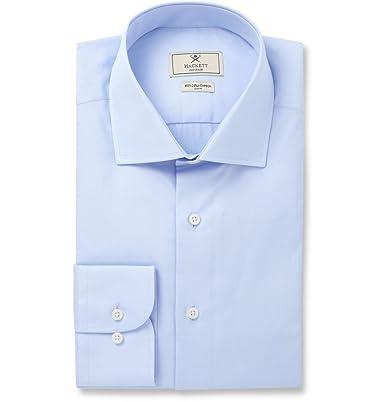 Hackett Blue Mayfair Slim-fit Cotton-poplin Shirt - Blue vdkocBPi