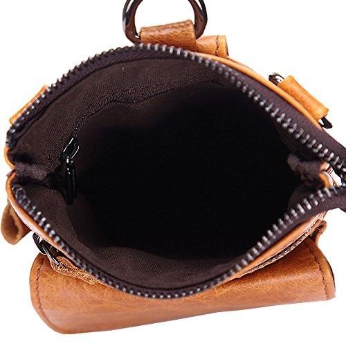 Othilar klein Tasche Leder braun Handtasche Schultertasche Hüfttasche Ledertasche Herren Damen