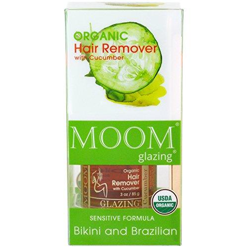 Moom Organic Hair Remover with Cucumber Bikini and Brazilian 3 oz 85 (Moom Hair Remover)