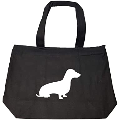 a92912fe28 Amazon.com: Best gift ideas for Dachshund lovers - Fashion Zip Tote Bag:  Clothing