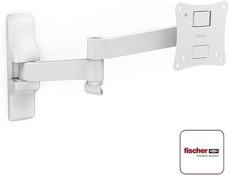 Hama 108737 - Soporte de pared para TV con pantalla plana, blanco