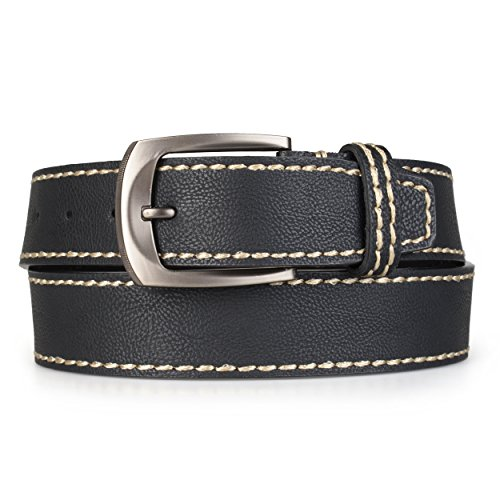 Daxx Mens Genuine Leather Topstitched Belt - Daxx Leather