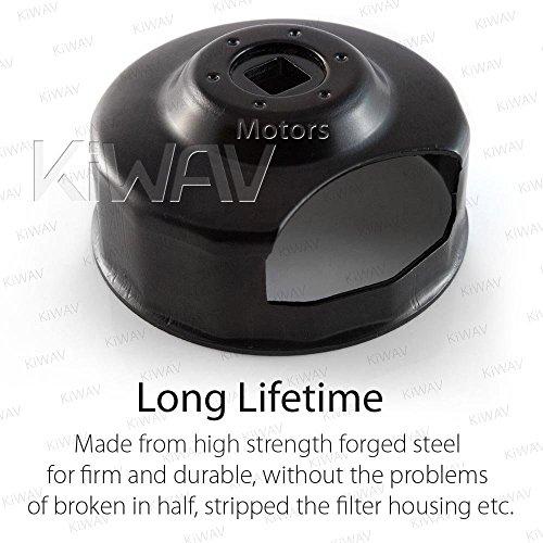 Oil Filter Cap Wrench for Harley-Davidson Twin Cam 76 mm 14 Flutes (Crank Sensor) - By KiWAV by KiWAV (Image #5)
