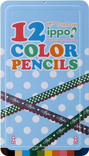 トンボ鉛筆 色鉛筆 ippo! スライド缶 12色 CL-RRW0212C プリントW B0079X03XK  プリントW