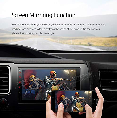 XTRONS 7 Android Autoradio mit Touchscreen Double Din Android 8.1 Quad Core Full RCA Ausgang 4G WiFi Bluetooth5.0 2Din 2GB RAM 16GB ROM DAB /& OBD2 Lenkradsteurung UNIVERSAL