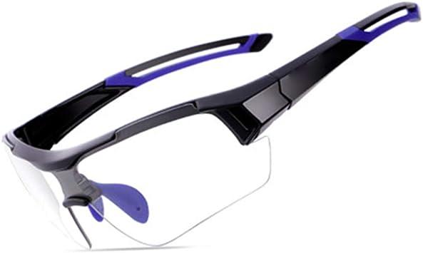 Gafas Ciclismo Fotocromaticas Hombre y Mujer, Gafas Mtb A Prueba de Viento Protección UV400 Gafas De Sol Polarizada,Decoloración Inteligente Gafas de Seguridad para Ciclismo Pesca Bicicleta,Azul: Amazon.es: Deportes y aire libre