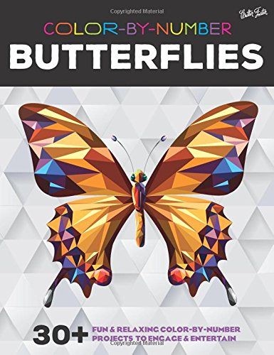 Walter Foster Publishing Color-by-Number: Butterflies: 30+ fun & relaxing color-by-number projects to engage & entertain price tips cheap