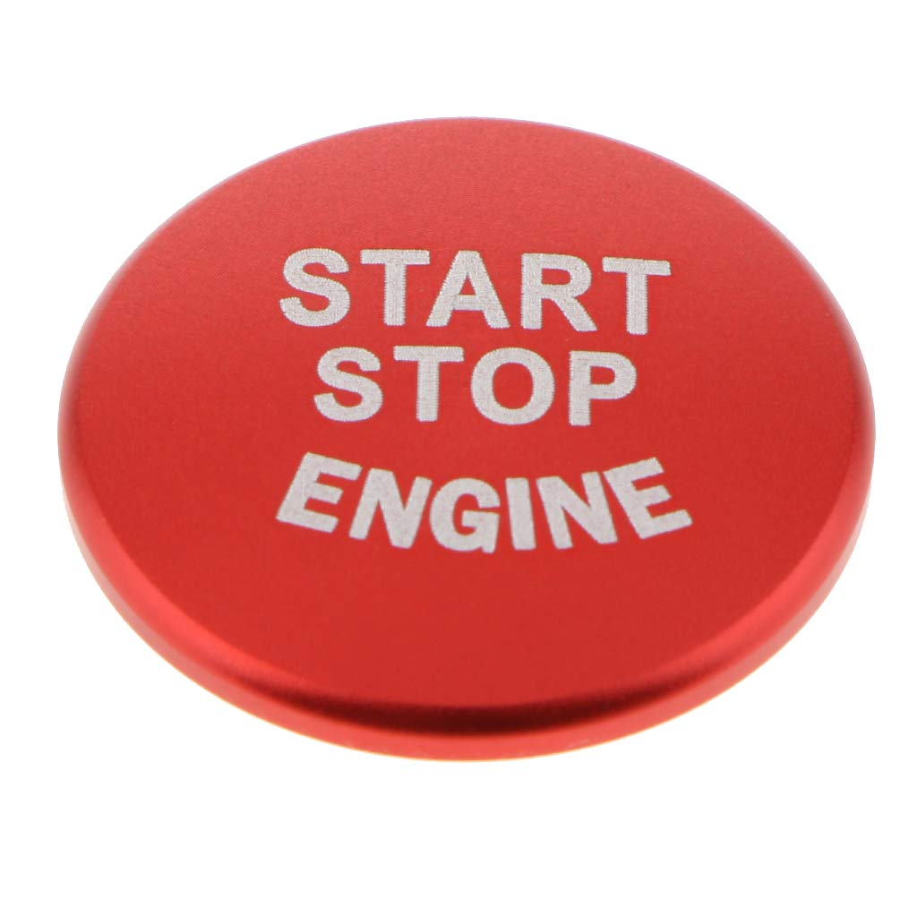 Red B Blesiya Car-styling Start Stop Engine Push Button Sticker Cover Fits For BMW