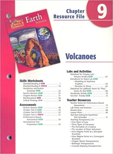 Holt Science & Technology Earth Science Chapter 9 Resource File ...