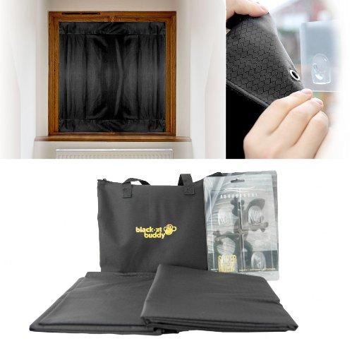 blackout buddy 2 x portable blackout blinds curtain. Black Bedroom Furniture Sets. Home Design Ideas