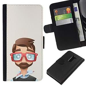 All Phone Most Case / Oferta Especial Cáscara Funda de cuero Monedero Cubierta de proteccion Caso / Wallet Case for LG G2 D800 // vasos fríos que el arte desarrollador polígono
