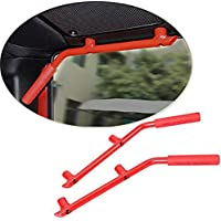 Nicebee Red Pair wild boar Rear Roll Bar Armrests Grab Handles Fit for Jeep Wrangler JK 2007 - 2015 & Unlimited JK 2 doors 4 doors