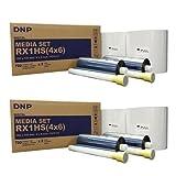 "DNP 2x Print Media for DS-RX1HS High Speed Dye Sub Printer - 4x6"" 700 Prints Per Roll; 2 Rolls Per Case (1400 Total Prints)"