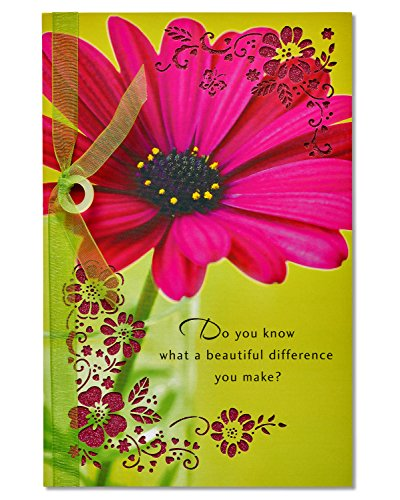 American Greetings Beautiful Difference Thank You Card with Ribbon -