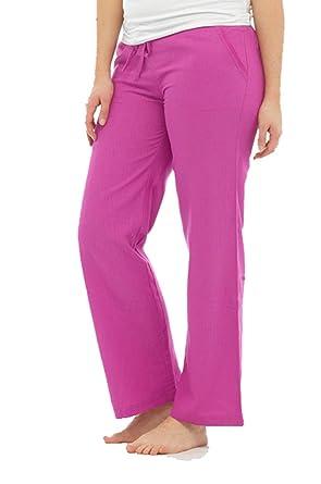 Pantalon d été pour femme, lin, coton et viscose, long, ceinture à nouer,  anthracite, bleu marine, blanc, bleu roi, corail, turquoise, taille 10 12  14 16 ... 9f359d92793