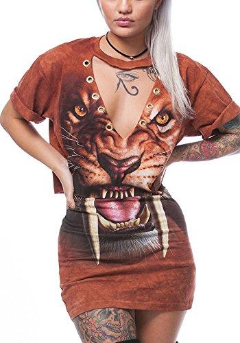 2 Piece V-Neck Skirt - 1