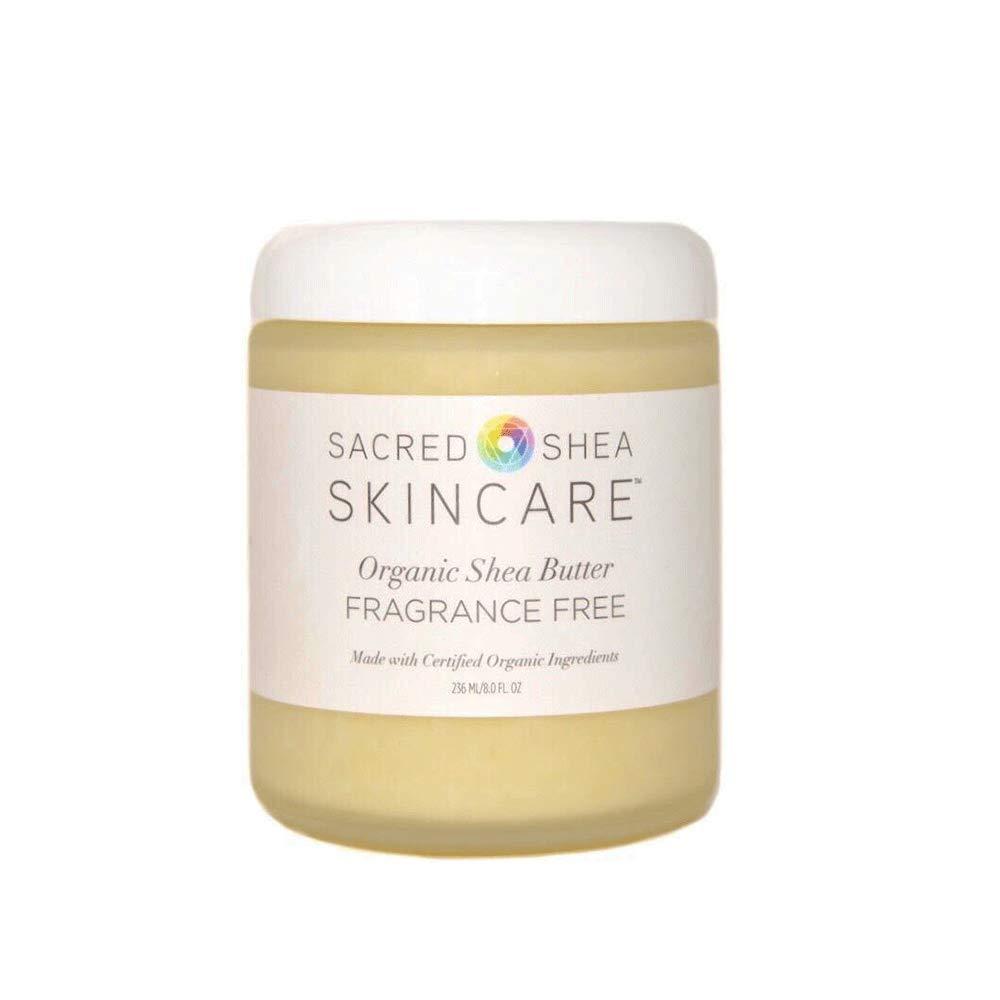Sacred Shea Skincare Organic Shea Body Butter, Fragrance Free Beauty Butter, Beauty Butter 8 oz.