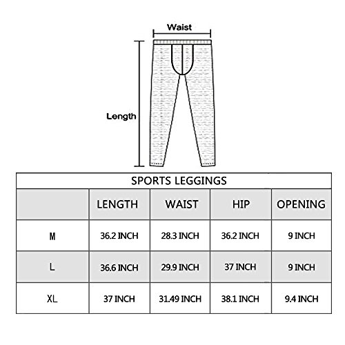 CANGHPGIN Mens Compression Pants Baselayer Cool Dry Sports Tights Leggings Exercise and Fitness