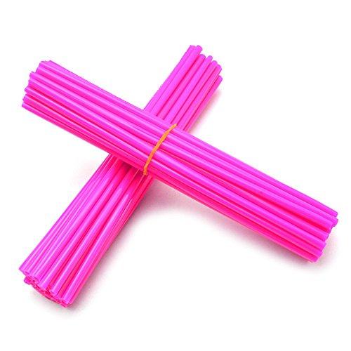 Spoke skins, Wraps, covers, coats universal 72 skins by Essentials Mart for SSR, Yamaha, Honda, Kawasaki klx,KX/KL-XF/KLR/KL CRF XL XLR XR KTM XT250 125 (Pink) by Essentials Mart (Image #2)