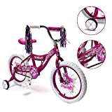 16'' Kid's Bike for 4-6 Years Old, Bicycle for Girls, Training Wheels with Coaster Brake, Purple